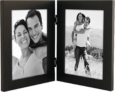 Malden Classic Linear Split Double Wood Picture Frame, Black, 5