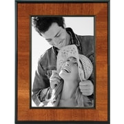 "Malden Burlwood Picture Frame With Black, 5"" x 7"" Border, Walnut, 5"" x 7"""