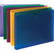 "Smead Poly File Jacket 89610, 1"" Folder Capacity, Letter, 1"" Expansion, Translucent Poly, Assorted (SMD89610)"