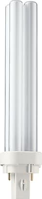 Philips Compact Fluorescent PL-C Lamp, 18 Watts, 2-Pin, Neutral White, 10PK