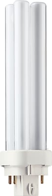 Philips Compact Fluorescent PL-C Lamp, 18 Watts, 4-Pin, Cool White, 10PK