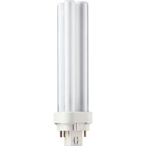 Philips Compact Fluorescent PL-C Lamp, 26 Watts, 4-Pin, Warm White, 10PK