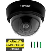 Defender Imitation Dome Security Camera with Realistic Flashing LED, 21034