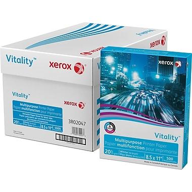 Xerox® - Papier multi-usages, 20 lb, 8 1/2 po x 11 po, boîte de 5000 feuilles
