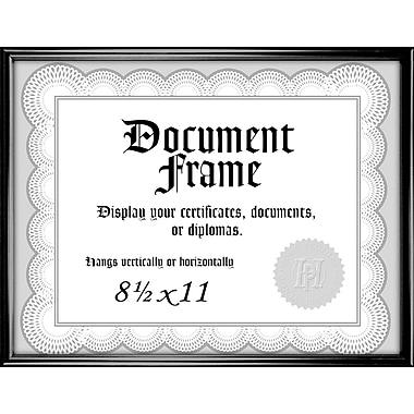 Malden Home Profiles Metro Plastic Document Frame, Black, 8.5