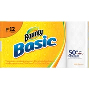 Bounty® Basic Giant Roll Paper Towels 66-count 8 Rolls/Pack (92966/84697)