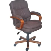 La-Z-Boy Faye Fabric Managers Office Chair, Fixed Arms, Chocolate (45326)