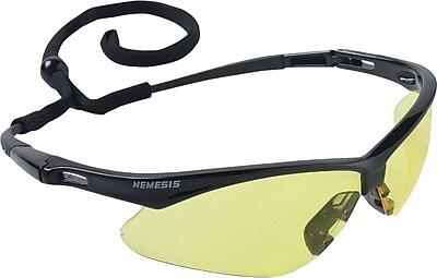 Jackson Safety Nemesis ANSI Z87.1 Safety Glasses, Amber (24659)