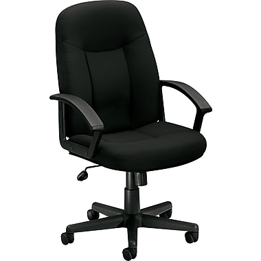 basyx by HON Fabric Executive Office Chair, Fixed Arms, Black (HVL601VA10.COM) NEXT2017