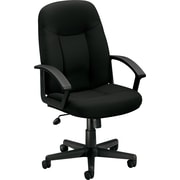HON High-Back Executive Chair, Center-Tilt, Fixed Arms, Black Fabric NEXT2018 NEXT2Day