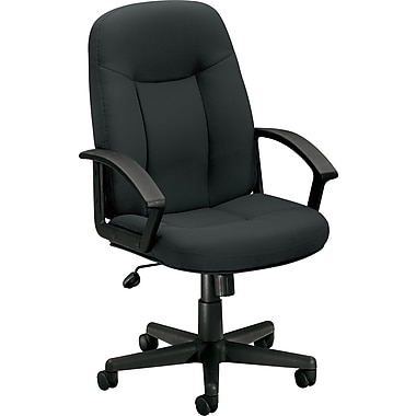 basyx by HON® HVL601 High-Back Task Chair, Fabric, Charcoal, NEXT2017 NEXT2Day