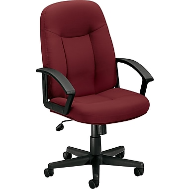 basyx by HON Fabric Executive Office Chair, Fixed Arms, Burgundy (HVL601VA62.COM) NEXT2017