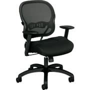HON Wave Mesh Mid-Back Chair, Synchro-Tilt, Adjustable Arms, Black Sandwich Mesh NEXT2018 NEXT2Day