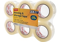 Staples Moving and Storage Packing Tape, 1.88' x 109 yds, Clear, 6/Pack (ST-A26-L6)