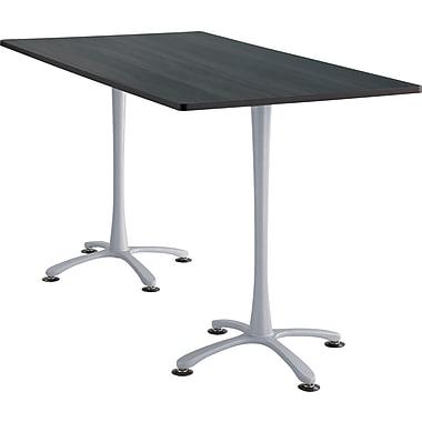Safco Cha Cha 84'' Standard Sit & Stand Desk, Silver (2570ANSL)