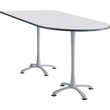 Safco Cha Cha 82'' Standard Sit & Stand Desk, White/Silver (2577DWSL)