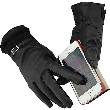 iPM Winter Fancy Faux Fur & Wool SmartPhone Touch Screen Gloves - For Women