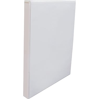 staples simply round ring view binder 1 2 white staples