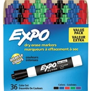Sanford Expo Low Odor Markers, Chisel Tip, Assorted