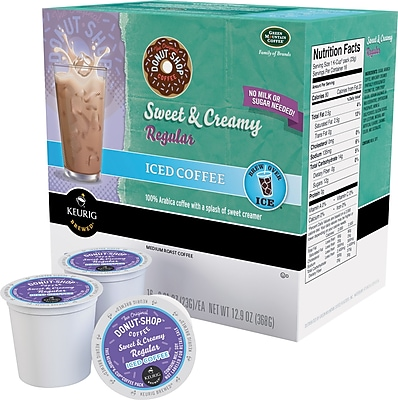 Keurig K-Cup Coffee People Original Donut Shop Sweet & Creamy Iced Coffee, 22/Pack 932007