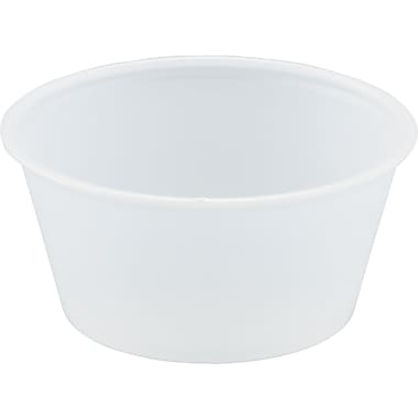 Polystyrene Portion Cups, 3.25oz, Translucent, 250/bag, 10 Bags/Ct