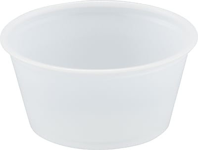 Polystyrene Portion Cups, 2oz, Translucent, 250/bag, 10 Bags/Ct