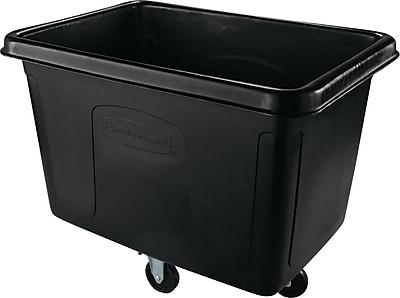 Rubbermaid® Commercial Cube Truck, 104.700 gal, Black, Each (RCP 4614 BLA)