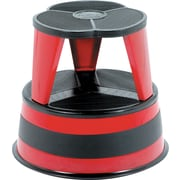 Kik-Step Steel Step Stool, 16 Dia x 14 1/4h, To 300 Lb., Red
