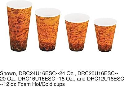 Dart Escape 16U16ESC Foam Hot/Cold Cup, 16