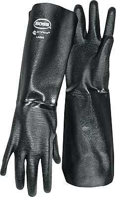 Boss® 1SN2539 Flannel Lining Neoprene Coated Gloves, Large