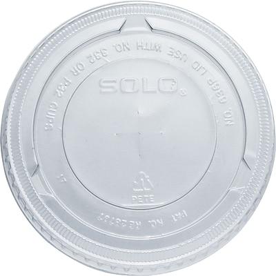 SOLO PET Plastic Flat Cold Cup Lids, 2,500/Case