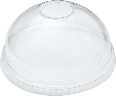 Dart Ultra Clear Dome Cold Cup Lids F/16-24 Oz Cups, Pet, 1000/Ct