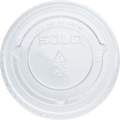 SOLO PET Plastic Souffle Portion Cup Lids, 2,500/Case 1538899