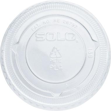 SOLO® PET Plastic Souffle Portion Cup Lids, 2,500/Case