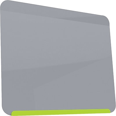 Ghent LINK Magnetic Dry-Erase Board, Lime Green/Gray, 2' x 2.5'