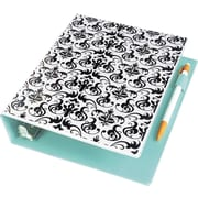 "Avery Mini Durable Style Binder with 1"" Round Rings, Chandelier Damask, 5-1/2"" x 8-1/2"" (18445)"