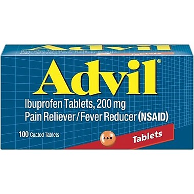 Advil® Ibuprofen Pain Reliever, 200mg, 100 Tablets