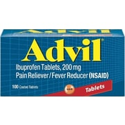 Advil Tablets Pain Relief, 200mg, 100/Bottle (015040)