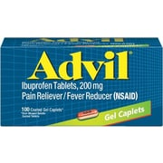 Advil Gel Caplets Pain Relief, 200 mg, 100/Bottle (016540)