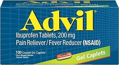 Advil Gel Caplets Pain Relief, 200 mg, 100/Bottle (016540)