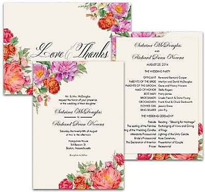 Invitations design wedding