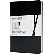 "Moleskine Volant Notebook, 3-1/2"" x 5-1/2"", Black, 2/Pack"