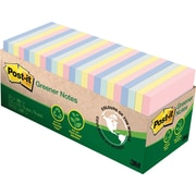 "Post-it® Greener Notes, Helsinki Collection, 3"" x 3"", 75 Sheets/Pad, 24/Pack"