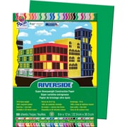 "Pacon Riverside Paper Construction Paper 9"" x 12"", Holiday Green, 50 Sheets (103577 )"