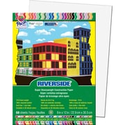 "Riverside® Construction Paper, 9"" x 12"", White, 50 Sheets"