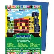 "Pacon Riverside Construction Paper 12"" x 9"", Dark Blue, 50 Sheets (103601)"