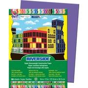 "Pacon Riverside Construction Paper 9"" x 12"", Violet, 50 Sheets (103603)"