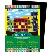 "Pacon® Riverside® Groundwood Construction Paper, Black, 12""(H) x 9""(W), 50 Sheets (03607)"