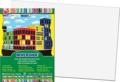 Pacon® Riverside® Groundwood Construction Paper, White, 18
