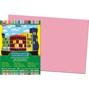 """Pacon Construction Paper 12"""" x 18"""", Pink, 50 Sheets"""
